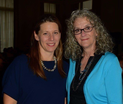 Jennifer Lambert, editor at HarperCollins, with Diane Schoemperlen, author of This Is Not My Life
